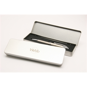 Silver Tin Gift Box Holds Up To Two Pens