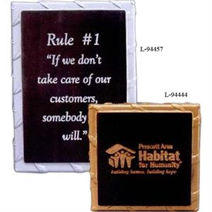 "4"" X 4"" X 3/4"" - Solid Stone Award Plaques With Their Rigid Look Of Steel Plates Are A Great Fit"