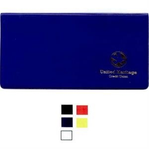 Premium French Calf Vinyl Checkbook/coupon Hold With Two Matte Clear Pockets