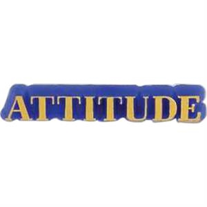 "Plastic Lapel Pin With ""attitude"" Lettering And Clutch Back Style"