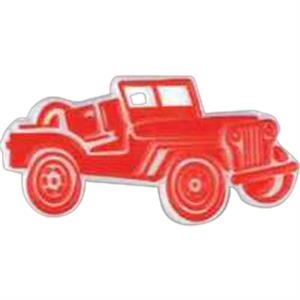 Jeep Car Shaped Plastic Lapel Pin With Clutch Back Style