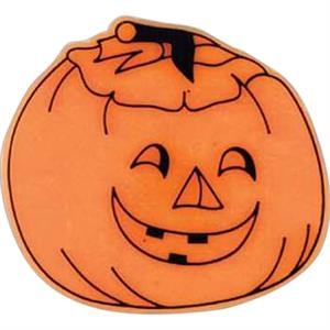 Jack-o-lantern-shaped Plastic Lapel Pin With Clutch Back Style