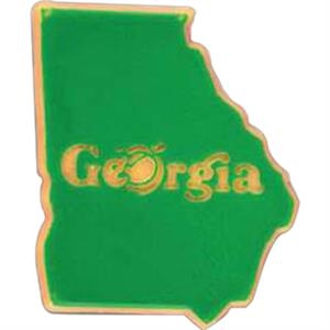 Georgia - Plastic Stock State Design Lapel Pin With A Clutch Back