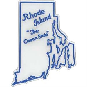Rhode Island - Plastic Stock State Design Lapel Pin With A Clutch Back