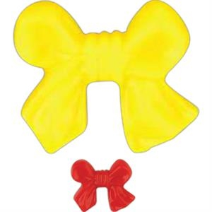 Stock Colorful Awareness Bow Shape Lapel Pin With A Clutch Back