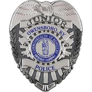 Junior Police Plastic Badge, Customized With Imprint
