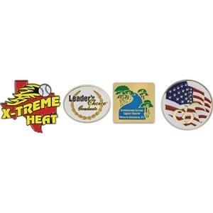 "3/4"" - Die Struck Soft Enamel Metal Lapel Pin With Military Clutch Back"
