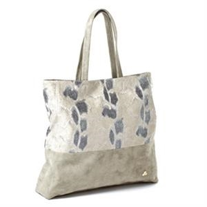 "Jemma Collection - Light Gray Snakeskin Tote Bag, 14"" X 17"" X 3"""