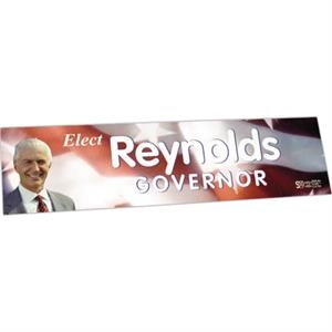 "Zip-strip (r) - Offset Full Color - Full Color Vinyl Bumper Sticker With Ultra Removable Adhesive, 3"" X 11 1/2"""