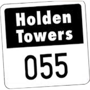 "Numbered Reflective 1 Color - Permanent Adhesive Outside Parking Permit Decal, 1 3/4"" X 1 3/4"""