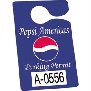 "Not Numbered .010"" White Reflective Plastic - 3"" X 4 3/4"" - Durable Plastic Hanging Parking Permit"