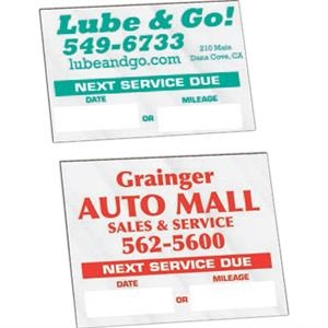 "On Roll - Visible Windshield Reminder Service Sticker, 1 1/2"" X 2 1/4"""