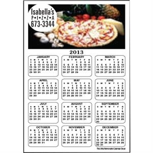 "Full Color Calendar Magnet With 1 3/4"" X 3 3/4"" Imprint Area"