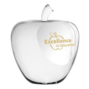Simple & Elegant Genuine Optic Crystal Apple Paperweight
