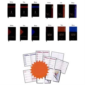 Keystone - Soft Cover 2-tone Vinyl Designer Series Planner Monthly Inserts And Refills