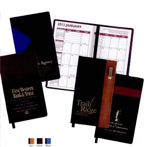 Lafayette - Soft Cover 2-tone Vinyl Designer Series Weekly Planner, With Pen, Map, Gilded Edges
