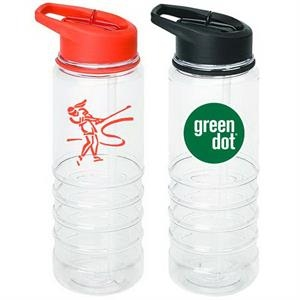 25 Oz. Bpa Free Tritan Sport Bottle With Colored Lid With Flip Straw And Handle