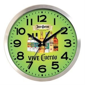 Aluminum Analog Wall Clock, 12""