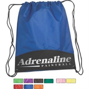Drawstring Polyester Cinch Pack With Metal Grommets