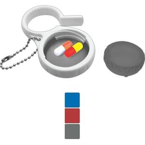 3-in-1 Key Tag With Adjustable Water Bottle Opener, Pill Holder And Key Tag