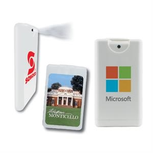 Hand Sanitizer Heros - White - Credit Card Hand Sanitizer Sprayer. Antibacterial Hand Sanitizer Credit Card Sprayer