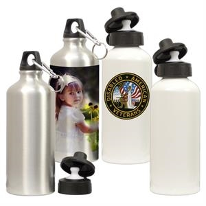 White - Define Your Brand With Photos Or Logos On This White Aluminum Water Bottle