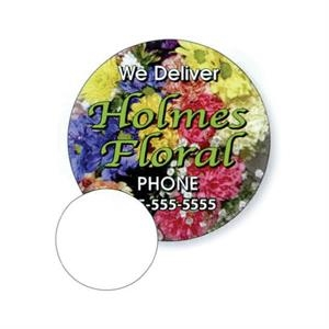 ".019"" - 2 1/2"" Diameter Circle Stock Mini Magnet With Digital 4-color Process Print"