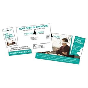 Extra-thick Laminated Postcard With Detachable Vertical Business Card - 24 Pt