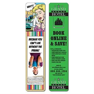 Bookmark - 1.75 X 8 Extra-thick Uv-coated (1s) With Page Holder - 14 Pt