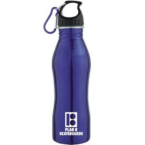 20 Oz 18/8 Stainless Steel Water Bottle With Screw On Cap