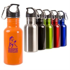 Adventure - Stainless 17 Oz. Bottle, Features Wide Mouth Opening, Leak Proof