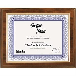Budget Beater - Cherry Certificate Plaque With Gold Frame