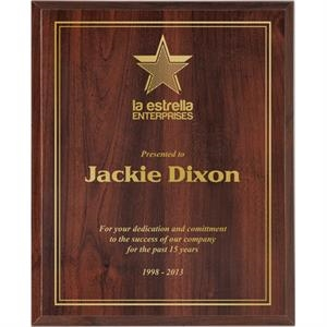 Valuworx - Cherry Finish High Gloss Plaque