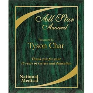 Valuworx - Green Wood Grain Finish Plaque