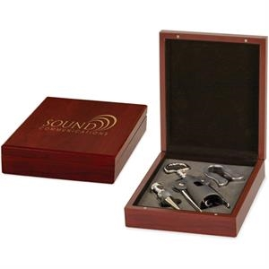 Lancer - Rosewood Wine Box With 3 Piece Wine Tool Set