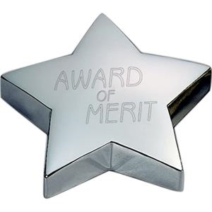 Stellar - Gold - Star Shaped Paperweight