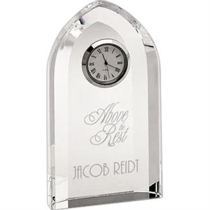 Winfield - Optical Crystal Pointed Arched Clock