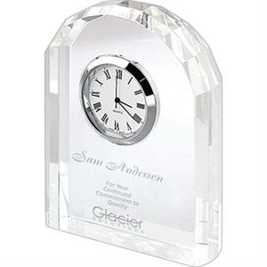 Eden - Optical Crystal Arched Clock