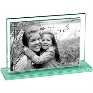 Grafton - Jade Glass Photo Holder On Jade Glass Base