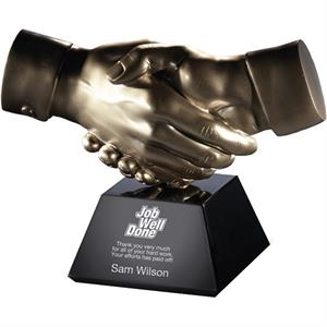 Partnership - Stonecast Hands Award With Black Base