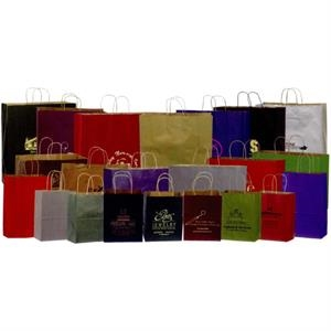 "Premium Color Matte Kraft Tint Paper Shopping Bag. 8"" X 4 1/2' X"