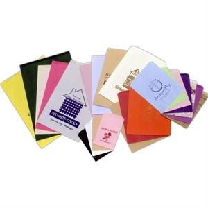"Colors Paper Merchandise Bag With Hot Foil Stamp. 6 1/4"" X 9 1/4"""