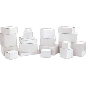 "4"" X 4"" X 2"" - White Gloss Stock 1 Piece Quick Lock Giftware Boxes"