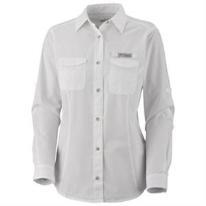 Bonehead (tm) - Ladies Long Sleeve Shirt With A Sun Protection Collar
