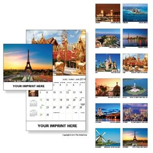 Econoline - Wall Calendar With World