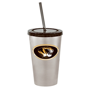 Velocity - 16 Oz Stainless Steel Tumbler, Double-wall Insulated, Screw-on Lid, Straw Included