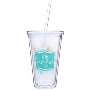 Spirit - 16 Oz Double Wall Acrylic Tumbler With Straw For Printing Inside And Out