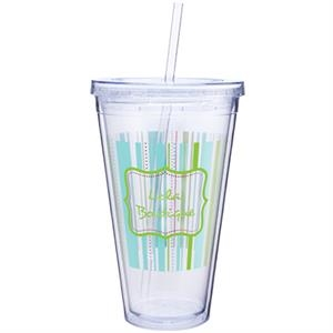 Spirit - 24 Oz Double Wall Acrylic Tumbler With Straw For Printing Inside And Out