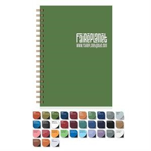 "Medium Notebook, 7"" X 10"" With 100 Sheets Ruled Recycled Writing Paper"