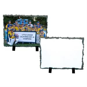 "Medium Rectangle Sublimation Photo Slate, 7.2"" X 5.85"""